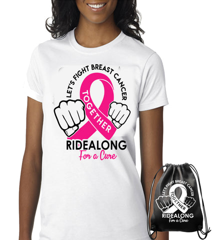 RIDEALONG For a Cure T SHIRT