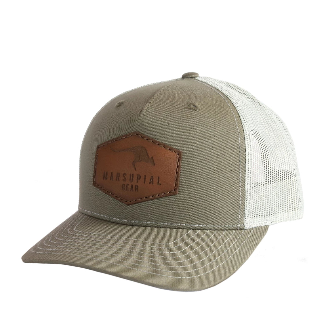 HEXAGON LEATHER PATCH HAT
