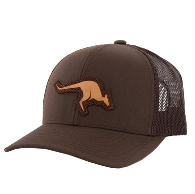 KANGAROO LEATHER PATCH HAT