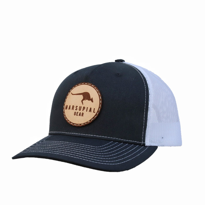 CIRCLE LEATHER PATCH HAT