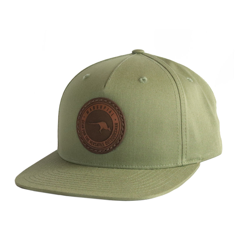 TWILL BADGE LEATHER PATCH HAT