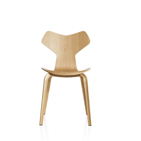 Republic of Fritz Hansen Grand Prix Chair with Wooden Legs