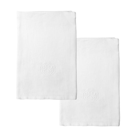 Georg Jensen Damask Plain Linen Napkins, set of 2 in White