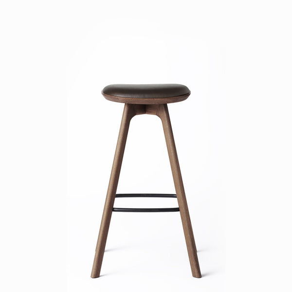 Pauline Counter Stool - Smoked Oak with leather seat