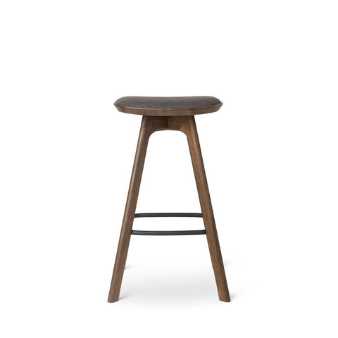 Pauline Bar Stool - Smoked Oak with fabric seat