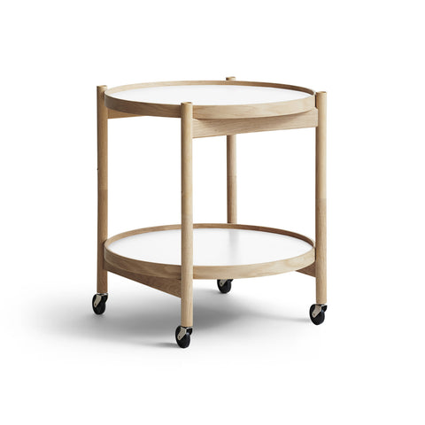 Tray Table - Model 50, Oak with White trays