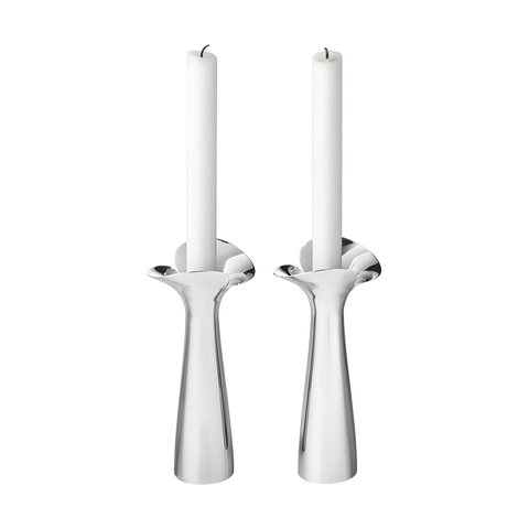 Georg Jensen Bloom Botanica Candleholders, 2 Pcs