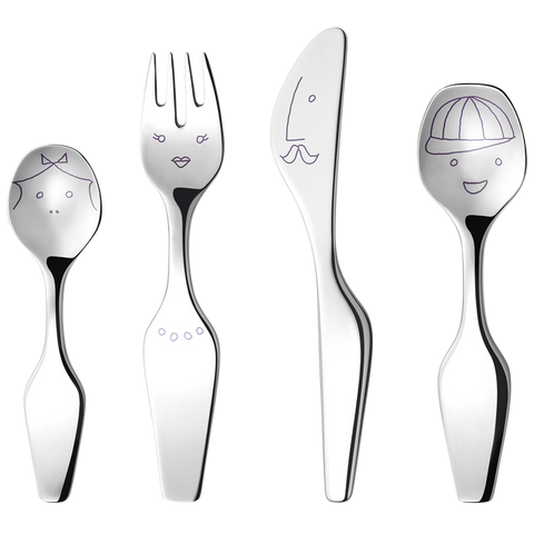 Georg Jensen Alfredo The Twist Family, 4 Pcs. Cutlery Set