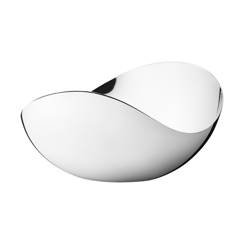 Georg Jensen Bloom Tall Mirror Bowl in Stainless Steel in Large