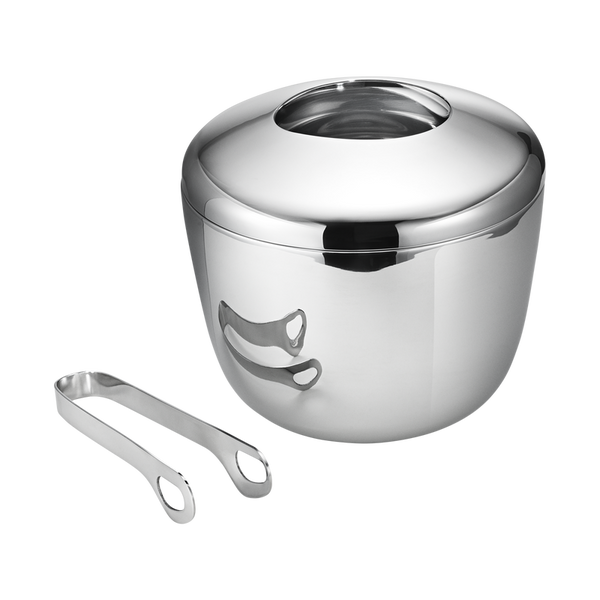 Georg Jensen Sky Ice Bucket With Ice Tongs