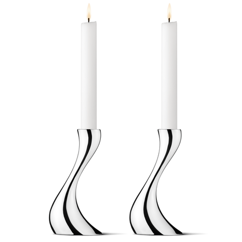 Georg Jensen Cobra Candleholder, Small, 2 Pack