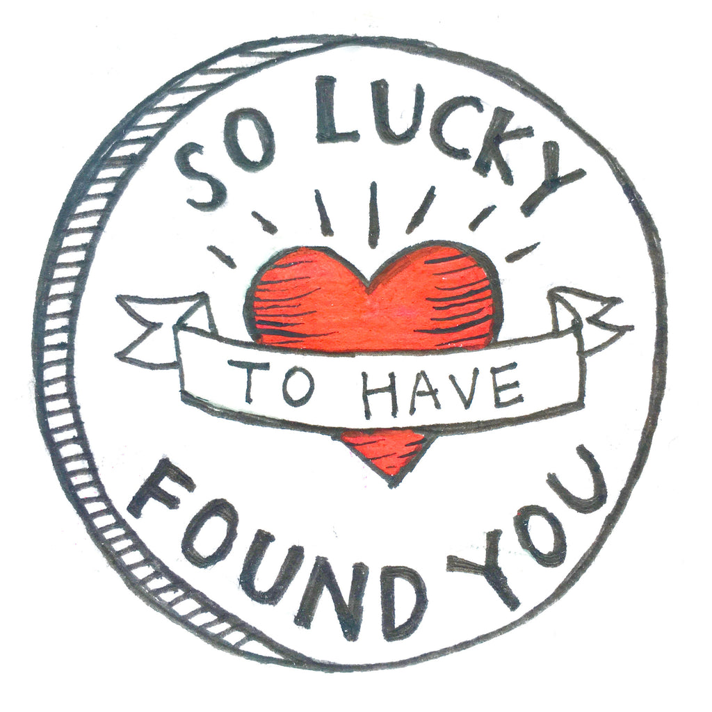 "DIY Valentine's Gift - ""So LUCKY to have found YOU"" memo board"
