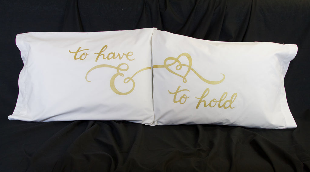 To Have & To Hold screen print pillowcases | Shifting Status Kuo