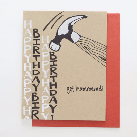 Get Hammered - birthday card