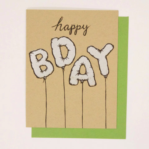 Bday Mylar Balloons - birthday card