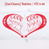 [2nd Chance] Good Morning & Good Night pillowcases - Red