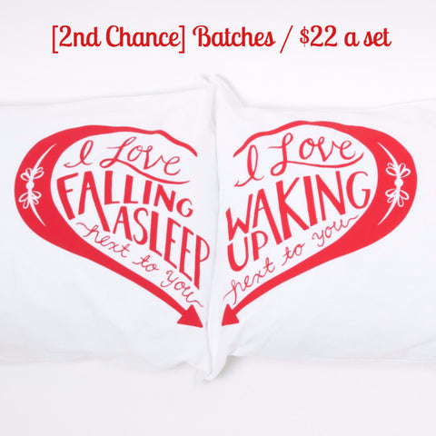[2nd Chance] Next to You pillowcases - Red