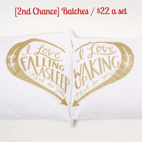 [2nd Chance] Next to You pillowcases - Gold