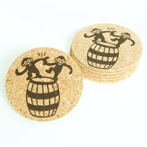Barrels of Monkey - Cork Coaster