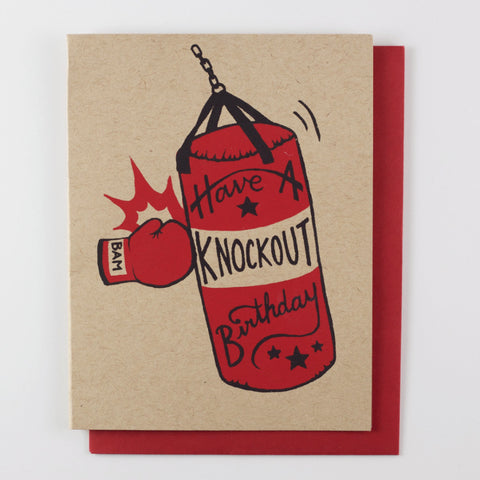 Knockout Birthday - birthday card