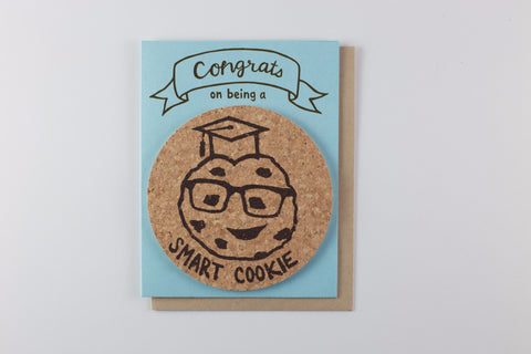Smart Cookie Graduation Card | 1 coaster included