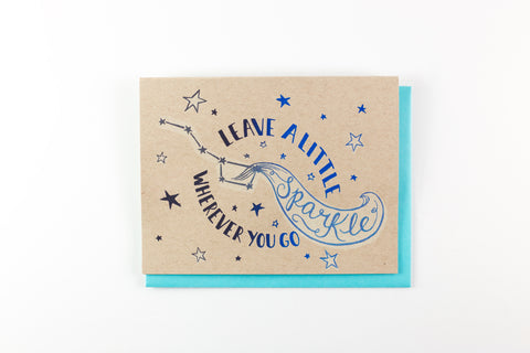 A Little Sparkle - card