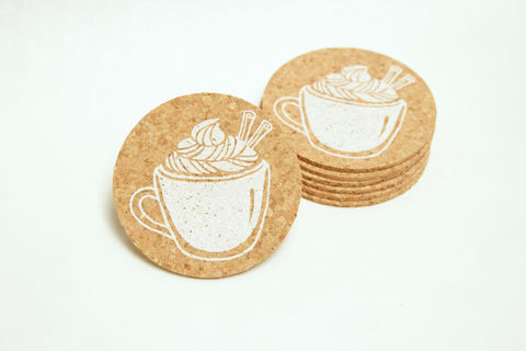 Egg Nog - 6 Cork Coasters