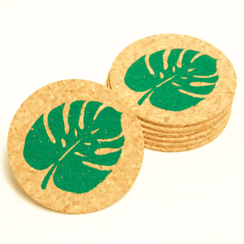 Palm Leaf - 6 Cork Coaster