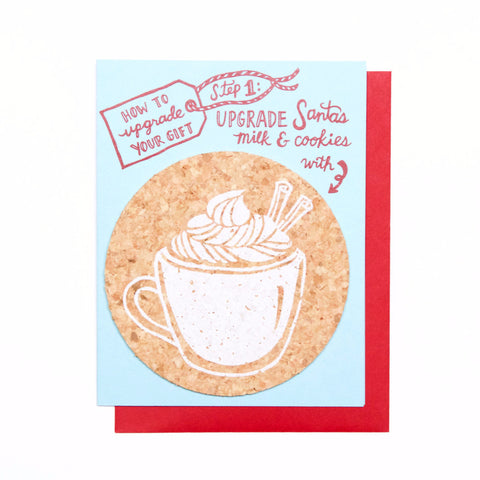 Upgrade to Eggnog holiday card - coaster card