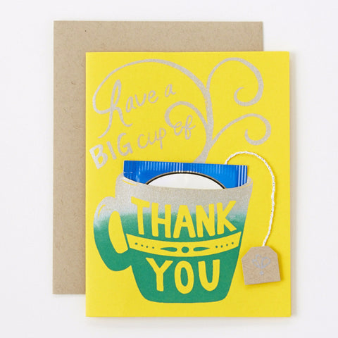 Cup of Thank You - yellow | Lady Grey Tea included
