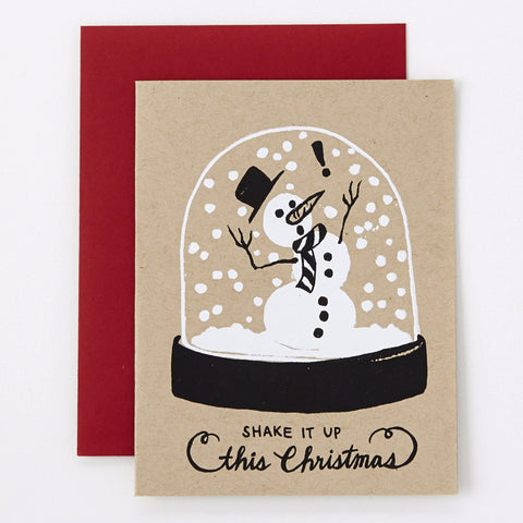 Shake Things Up - snow globe Christmas card