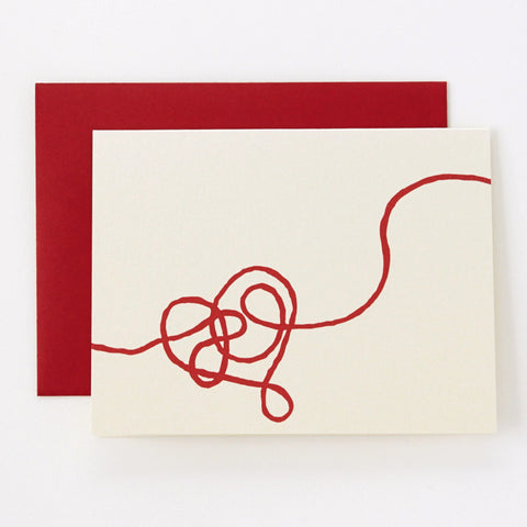 Red String on Champagne - love card