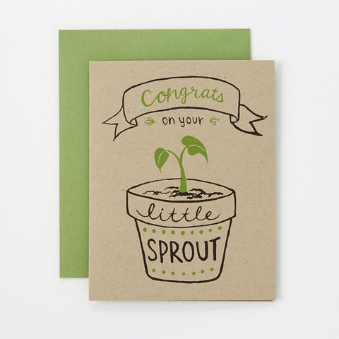 Little Sprout - baby card (gender neutral)