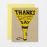 Brighten My Day - thank you card