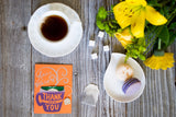 Cup of Thank You - orange | Irish Breakfast Tea included