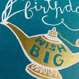 Magic Lamp wish big - birthday card
