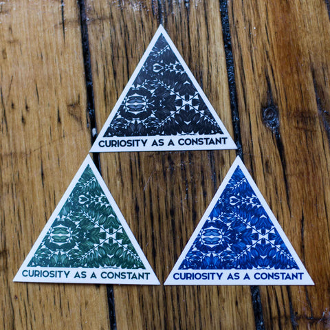 """Curiosity as a Constant"" Sticker Pack of 3"