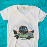 Women on the Road Truck T Shirt
