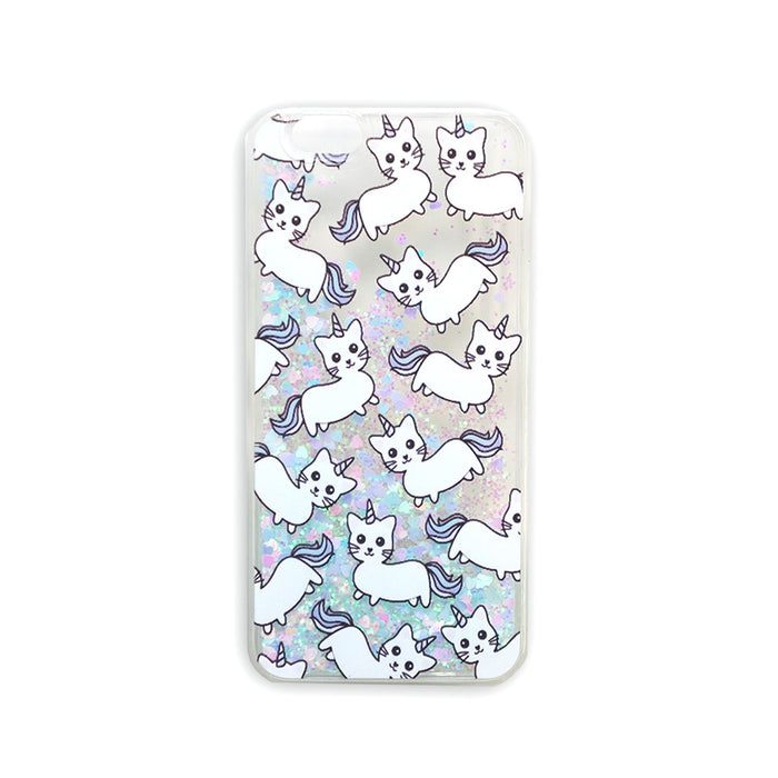 Caticorn liquid glitter case
