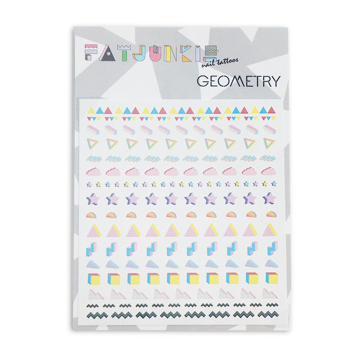 Geometry nail tattoos