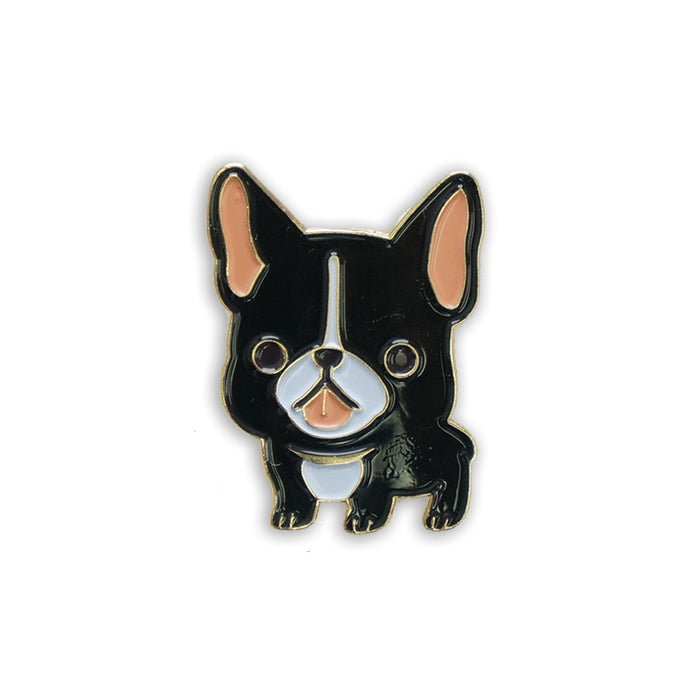 French bulldog pin black