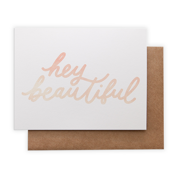 Hey beautiful card