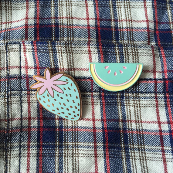 Pastel watermelon pin