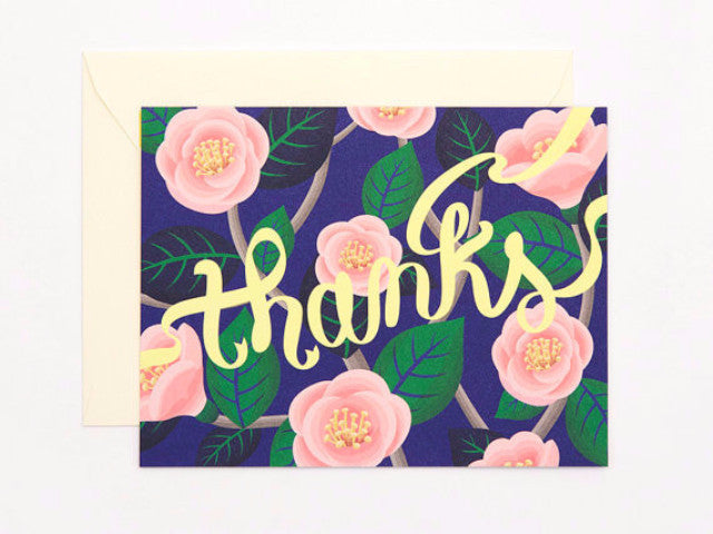 Camellia thank you card
