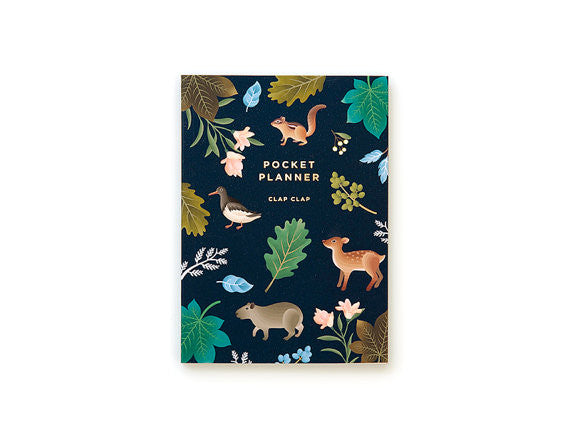 Botanical navy pocket planner