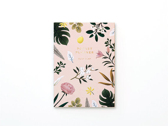 Botanical pink pocket planner
