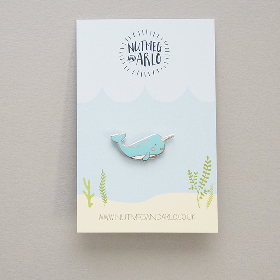 Mr Narwhal pin