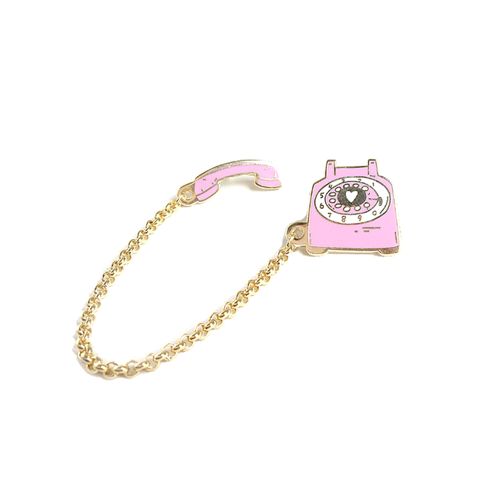 Rotary dial telephone pin - pinkberry