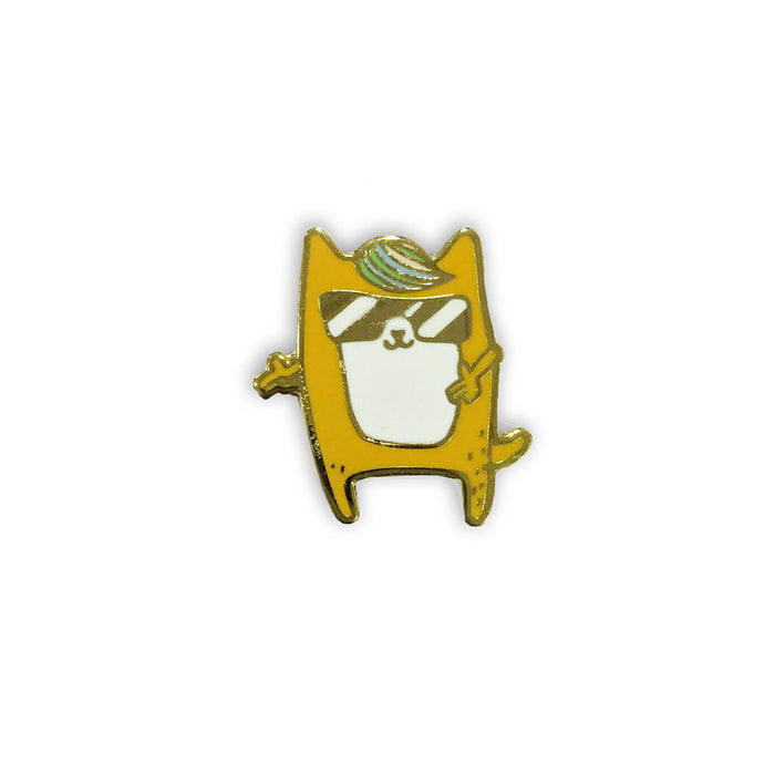 Cool corgi pin