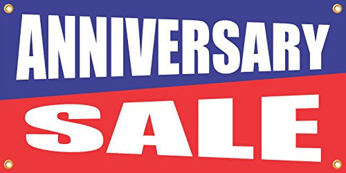 Anniversary Sale 2ftx4ft Vinyl Retail Banner Sign